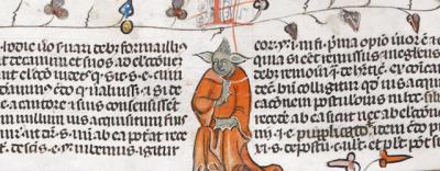 Un disegno di Yoda in un manoscritto medievale