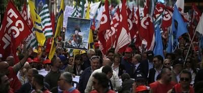 Le foto dello sciopero generale della scuola
