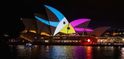 La Sydney Opera House illuminata in modo speciale