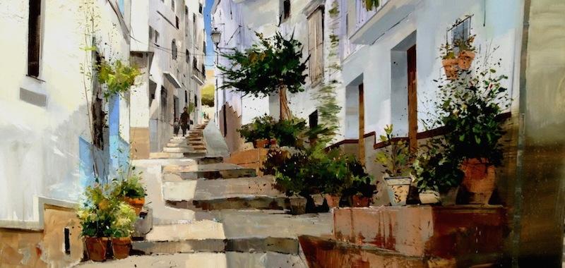 Paesaggi urbani ad olio il post for Dipinti moderni bianco e nero