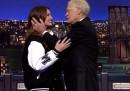 Tutti i baci tra Julia Roberts e David Letterman