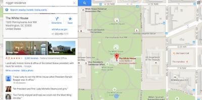 Il problema di Google Maps con il razzismo e con la Casa Bianca