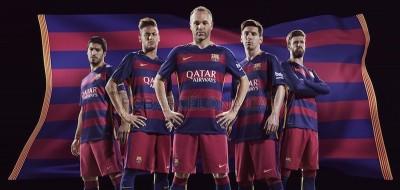 Le nuove maglie del Barcellona, diverse dalle solite