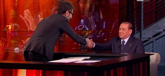 """Silvio Berlusconi intervistato a """"Che tempo che fa"""""""