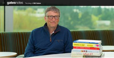 I libri consigliati da Bill Gates per l'estate