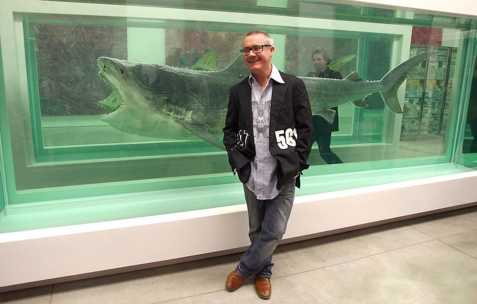 British artist Damien Hirst poses during