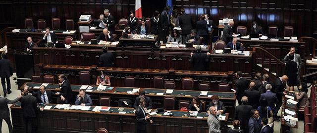 Camera dei Deputati. Discussione sulla riforma della legge elettorale e voto di Fiducia