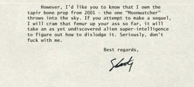 """La falsa lettera di Stanley Kubrick sul sequel di """"2001"""""""