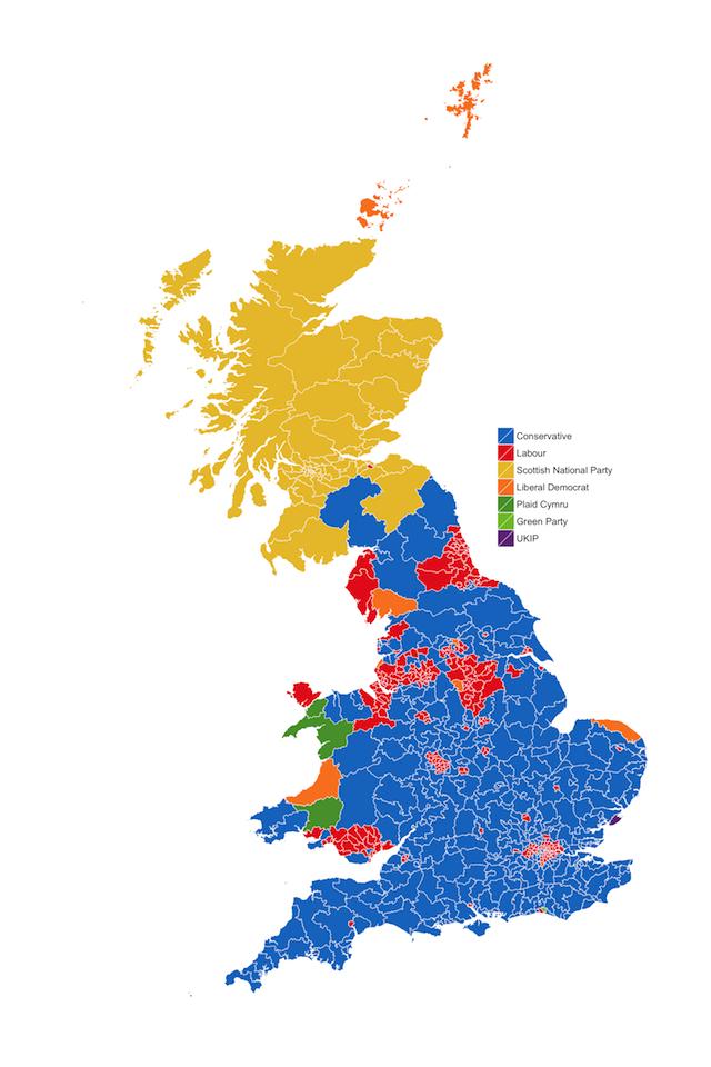 Chi arrivato secondo alle elezioni britanniche il post - Mappa dell inghilterra per i bambini ...