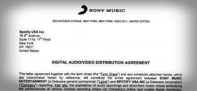 Come è fatto un contratto tra Spotify e le case discografiche