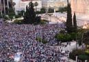 Le manifestazioni in Grecia per il Sì