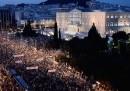 Le manifestazioni in Grecia per il No