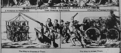 La vignetta razzista anti-italiana del 1888