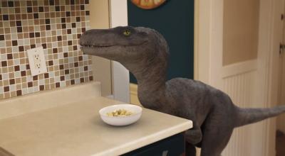 Colazione con velociraptor