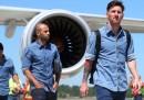 I giocatori di Juventus e Barcellona sono arrivati a Berlino
