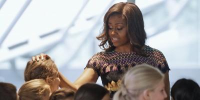 Le foto di Michelle Obama a Milano