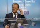 Donald Tusk ha impedito a Tsipras e Merkel di sospendere i negoziati