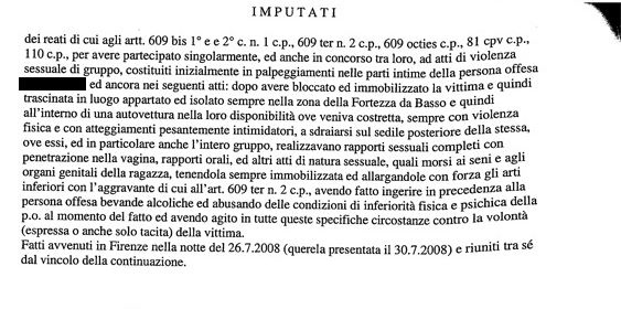 Stupro Firenze