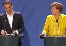 Discorso senza parole tra Merkel e Tsipras