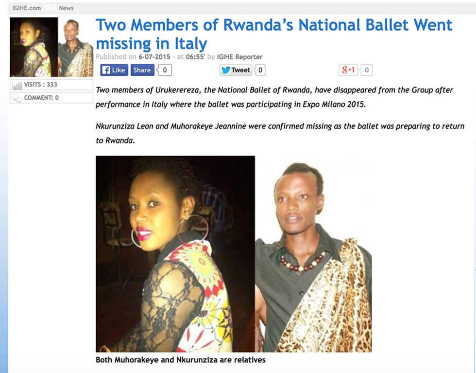 Scomparsi ruanda