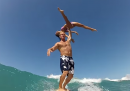 Ginnasti sul surf
