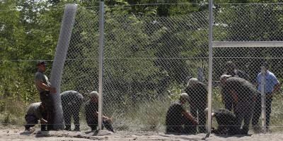 Le prime foto del muro tra Ungheria e Serbia