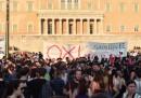 La manifestazione contro Tsipras ad Atene