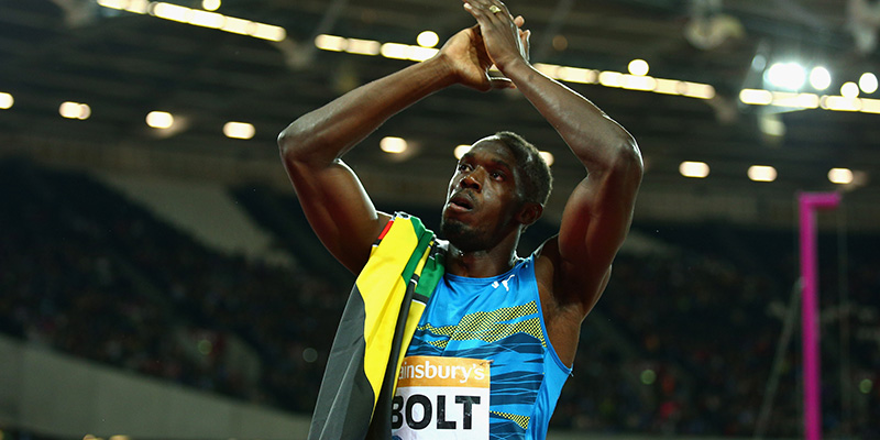 Usain bolt ha vinto i 100 metri nella prova diamond league for Finale 100 metri londra