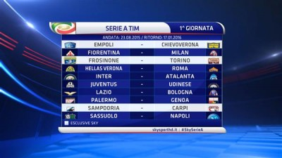 Tutte le 19 giornate del nuovo calendario di Serie A