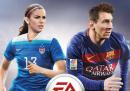 La copertina di FIFA16, per la prima volta con una calciatrice