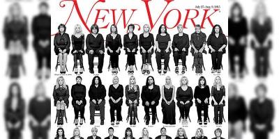 La copertina del New York Magazine con le 35 donne molestate da Bill Cosby
