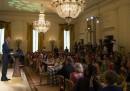 """Le foto della """"cena di Stato coi bambini"""" alla Casa Bianca"""
