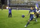 I festeggiamenti per il ritorno di Carlos Tevez al Boca Juniors