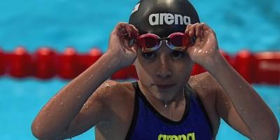 La nuotatrice di 10 anni ai Mondiali