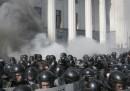 L'esplosione fuori dal Parlamento a Kiev