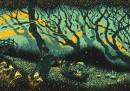 Le illustrazioni di James R. Eads, che si ispira ai cieli di Van Gogh