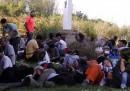 La difficile giornata dei migranti in Croazia