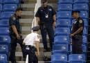 Il drone caduto durante gli US Open