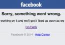 Facebook down, sta avendo qualche problema