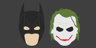 L'evoluzione di Batman e Joker, disegnata