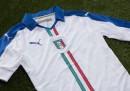 La nuova maglia da trasferta dell'Italia