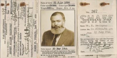 Le foto di Ernest Hemingway a Milano