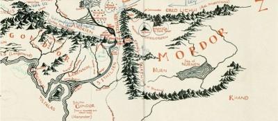La mappa della Terra di Mezzo con le note di Tolkien