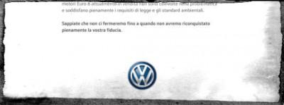 L'inserzione a pagamento di Volkswagen sui giornali italiani