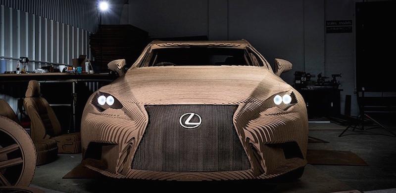Ben noto Le foto dell'auto di cartone fatta da Lexus - Il Post LI05