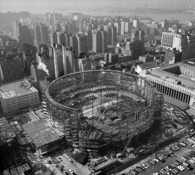La costruzione del Madison Square Garden