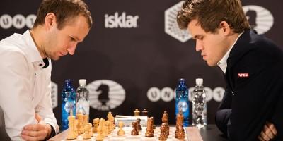 Facce da giocatori di scacchi
