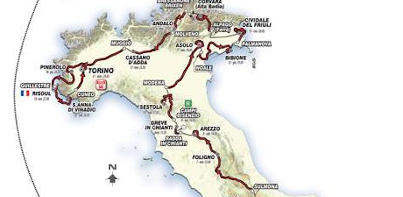Calendario Giro D Italia.L Elenco Delle Tappe Del Giro D Italia 2016 Il Post