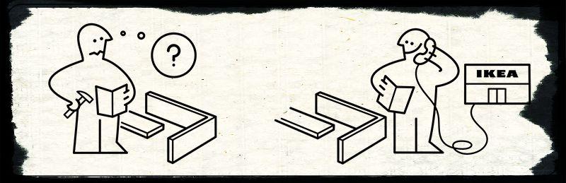 come sono fatte le istruzioni ikea il post. Black Bedroom Furniture Sets. Home Design Ideas