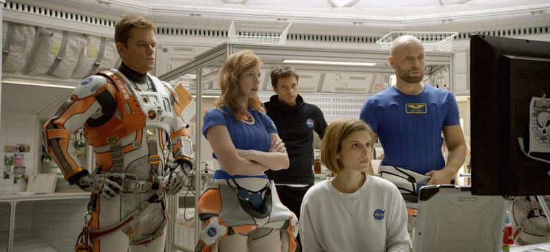 Matt Damon, Jessica Chastain, Sebastian Stan, Kate Mara, and Aksel Hennie